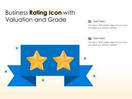 Business Rating Icon With Valuation And Grade