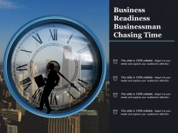 Business Readiness Businessman Chasing Time