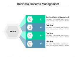 Business Records Management Ppt Powerpoint Presentation Model Display Cpb