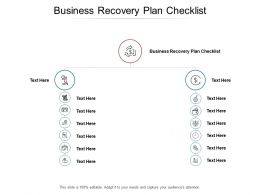 Business Recovery Plan Checklist Ppt Powerpoint Presentation Slides Graphics Download Cpb