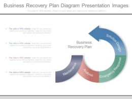 Business Recovery Plan Diagram Presentation Images