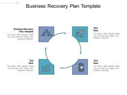 Business Recovery Plan Template Ppt Powerpoint Presentation Icon Sample Cpb