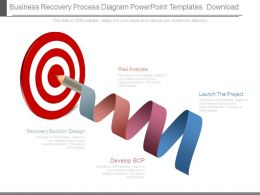 Business Recovery Process Diagram Powerpoint Templates Download