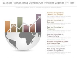 Business Reengineering Definition And Principles Graphics Ppt Icon