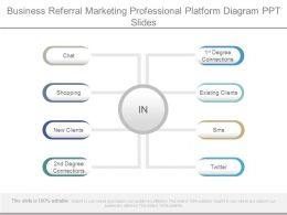 Business Referral Marketing Professional Platform Diagram Ppt Slides
