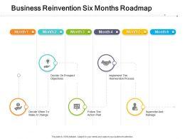 Business Reinvention Six Months Roadmap