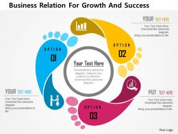 Business Relation For Growth And Success Flat Powerpoint Design