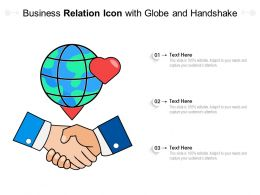 Business Relation Icon With Globe And Handshake