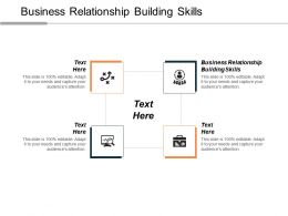 Business Relationship Building Skills Ppt Powerpoint Presentation Layouts Icons Cpb