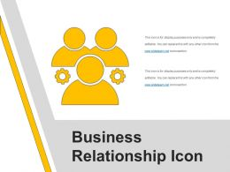 Business Relationship Icon Example Of Ppt