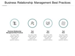 Business Relationship Management Best Practice Ppt Powerpoint Presentation Pictures Cpb