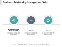 Business Relationship Management Skills Ppt Powerpoint Presentation Show Cpb