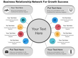 Business Relationship Network For Growth Success Flat Powerpoint Design