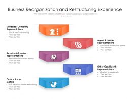Business Reorganization And Restructuring Experience