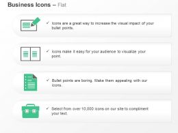 Business Report Checklist Suitcase Record Ppt Icons Graphics