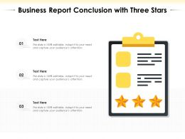 Business Report Conclusion With Three Stars