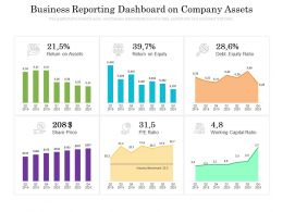 Business Reporting Dashboard On Company Assets