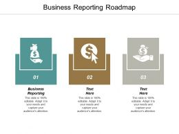 Business Reporting Roadmap Ppt Powerpoint Presentation Visual Aids Infographics Cpb