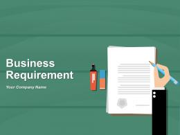 Business Requirement Analyse Requirement Document Requirements