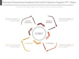 Business Requirement Analysis And Control Objective Diagram Ppt Slides