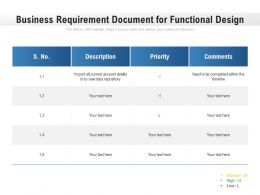 Business Requirement Document For Functional Design