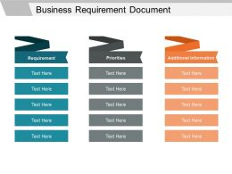 Business Requirement Document Powerpoint Ideas