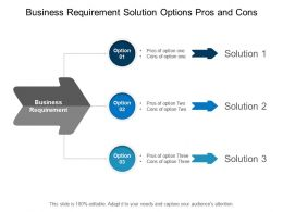 Business Requirement Solution Options Pros And Cons