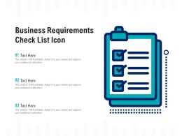 Business Requirements Check List Icon