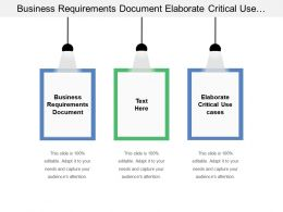 Business Requirements Document Elaborate Critical Use Cases Performance Model