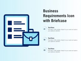 Business Requirements Icon With Briefcase
