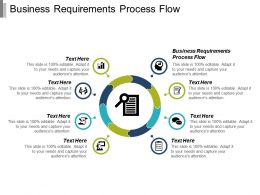 Business Requirements Process Flow Ppt Powerpoint Presentation Infographic Template Ideas Cpb
