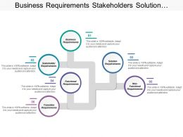 Business Requirements Stakeholders Solution Functional Transition