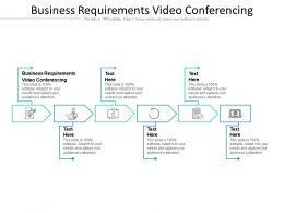 Business Requirements Video Conferencing Ppt Powerpoint Presentation Styles Pictures Cpb