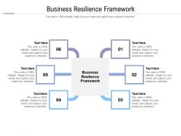 Business Resilience Framework Ppt Powerpoint Presentation Inspiration Show Cpb