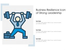 Business Resilience Icon Of Strong Leadership