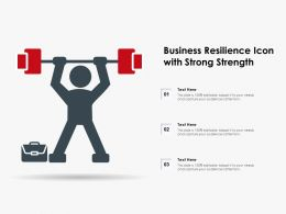 Business Resilience Icon With Strong Strength
