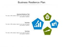 Business Resilience Plan Ppt Powerpoint Presentation Infographic Template Professional Cpb