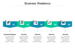 Business Resilience Ppt Powerpoint Presentation Background Cpb