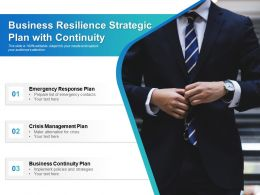 Business Resilience Strategic Plan With Continuity