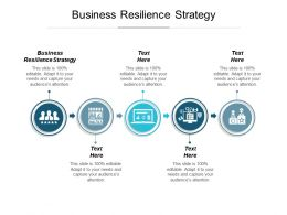 Business Resilience Strategy Ppt Powerpoint Presentation Infographics Example Cpb