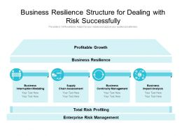 Business Resilience Structure For Dealing With Risk Successfully