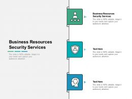 Business Resources Security Services Ppt Powerpoint Presentation Model Infographic Template Cpb