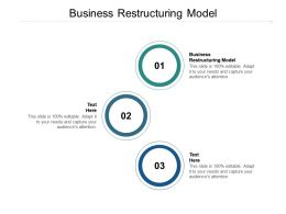 Business Restructuring Model Ppt Powerpoint Presentation Layouts Styles Cpb