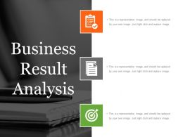 Business Result Analysis Powerpoint Slide