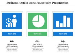 Business Results Icons Powerpoint Presentation