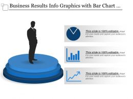 Business Results Info Graphics With Bar Chart And Graph