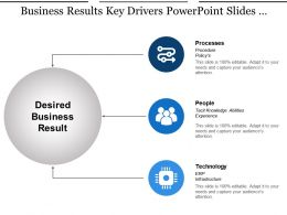 Business Results Key Drivers Powerpoint Slides Design Ideas