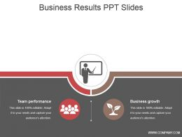 Business Results Ppt Slides