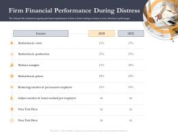 Business Retrenchment Strategies Firm Financial Performance During Distress Ppt Icons