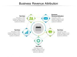 Business Revenue Attribution Ppt Powerpoint Presentation Deck Cpb